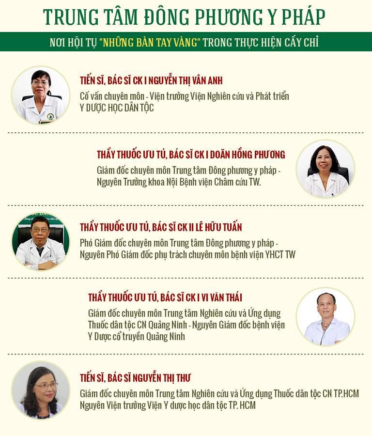 Trung tâm quy tụ đội ngũ y bác sĩ giỏi chuyên môn, hàng chục năm kinh nghiệm châm cứu chữa bệnh
