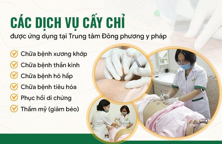 Cấy chỉ Đông phương Y pháp có thể điều trị đa dạng bệnh