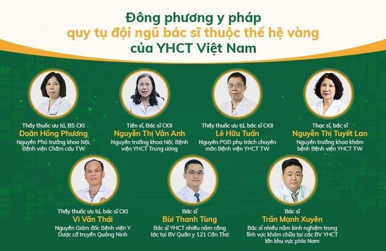 Đông Phương y pháp quy tụ đội ngũ bác sĩ YHCT đầu ngành