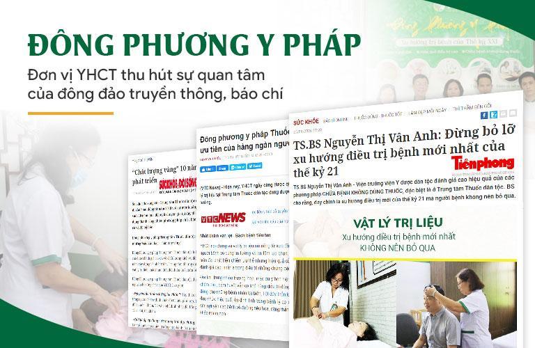 Báo chí đưa tin giới thiệu về các liệu pháp chữa bệnh tại Trung tâm Đông phương Y pháp