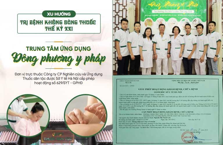 Các liệu pháp trị liệu tại Đông phương Y pháp đã được Bộ y tế cấp phép thực hiện