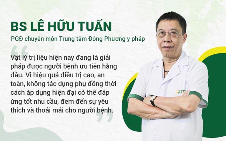 Bác sĩ Lê Hữu Tuấn và nhận định về vật lý trị liêu YHCT